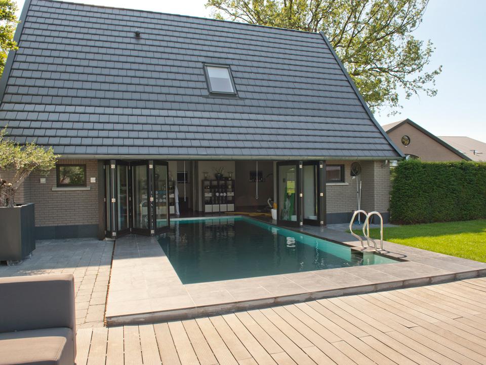 Zwembad In Huis : Zwembadhuizen bouwbedrijf lammersen